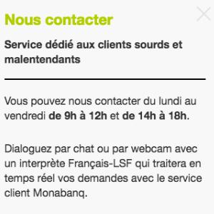 Monabanq : ouverture du service dédié aux clients sourds et malentendants