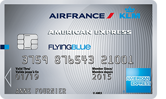 Carte AIR FRANCE KLM AMERICAN EXPRESS SILVER
